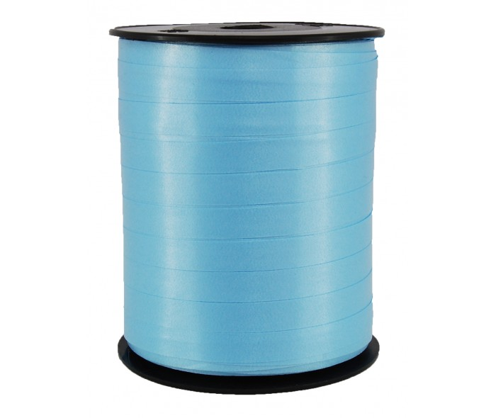 Polysheenbånd, lys blå