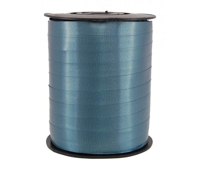 Polysheenbånd, petrol (mørk blå)