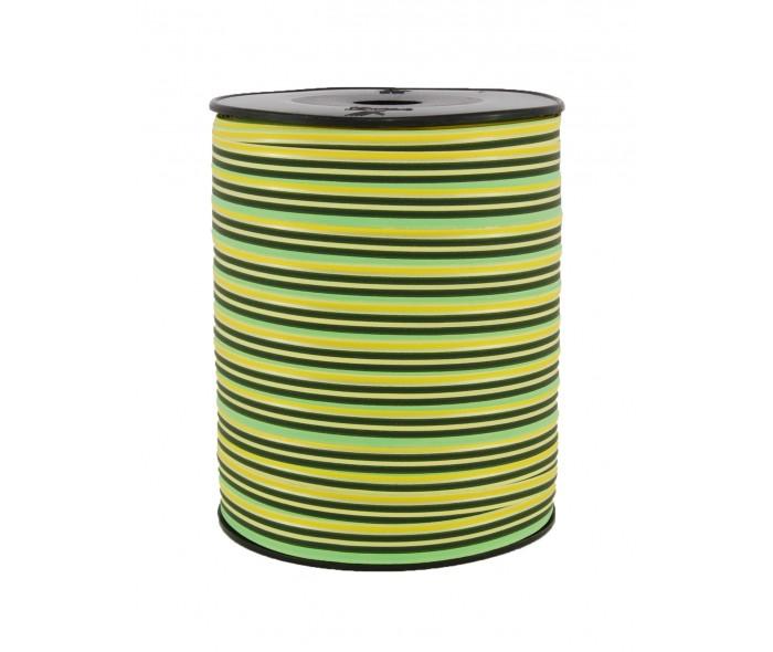 Matt stripete bånd gul/grønn