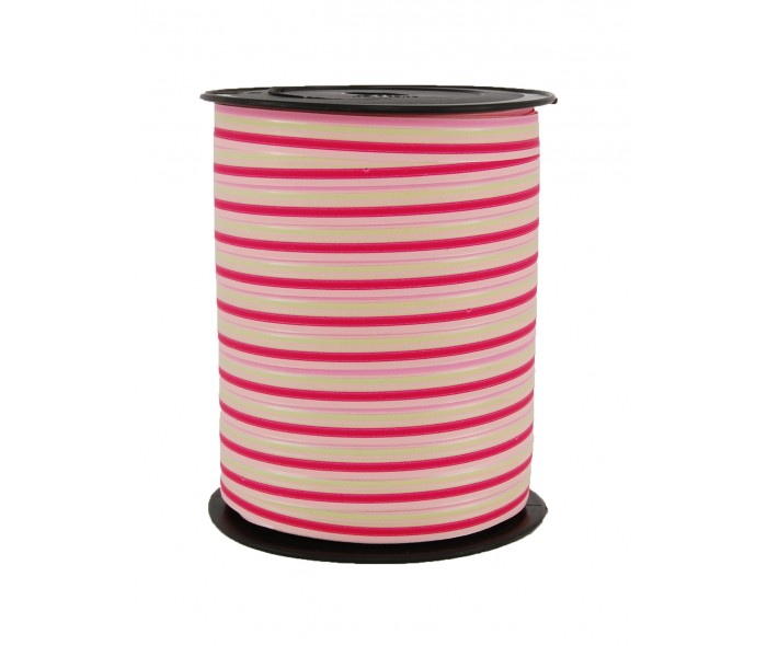 Matt bånd stripet rosa/fuchsia