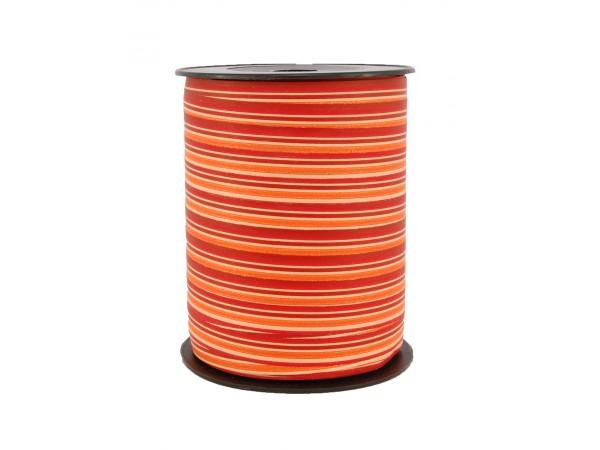 Matt stripete bånd rød/orange