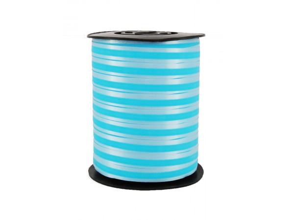 Polysheenbånd stripet blå