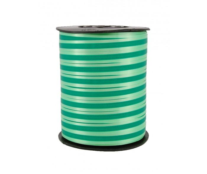 Polysheenbånd stripet grønn