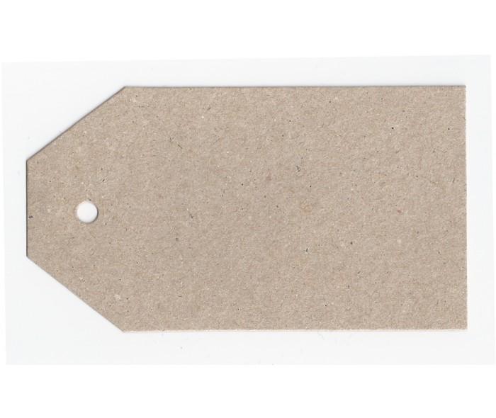 Hengeetikett 6x10,8 cm. nøytral