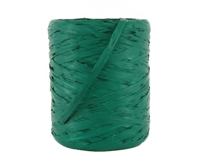 Raffia bånd, mørk grønn