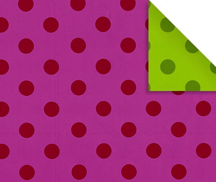 Gavepapir B-6174 Tosidig rosa/grønn med prikker
