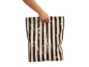Bæreposer, sort/hvit stripete