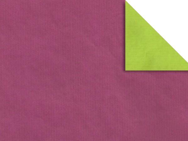 Gavepapir F-2413 Tosidig cerise/lys grønn