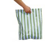 Bæreposer, blå stripete 45x50/4 cm.