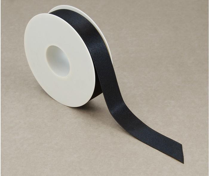 Silkebånd, sort