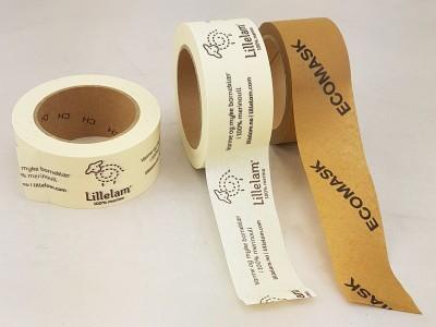 eckomask papirtape med trykk