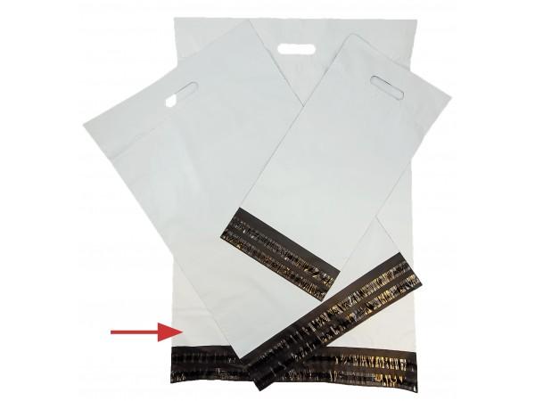 Netthandelpose, hvit 50x60+8+7 cm.
